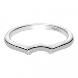 Gabriel 14 Karat Contemporary Wedding Band WB8432W4JJJ