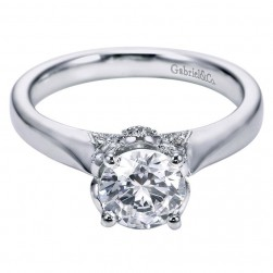 Gabriel 14 Karat Contemporary Engagement Ring ER6391W44JJ