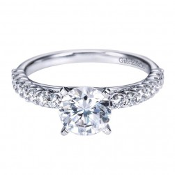 Gabriel 14 Karat Contemporary Engagement Ring ER7540W44JJ