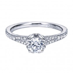 Gabriel 14 Karat Contemporary Engagement Ring ER7727W44JJ