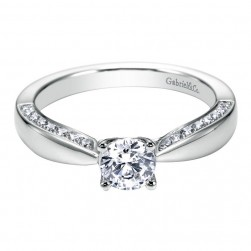 Gabriel 14 Karat Contemporary Engagement Ring ER96288W44JJ