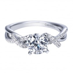 Gabriel 14 Karat Contemporary Engagement Ring ER7756W44JJ