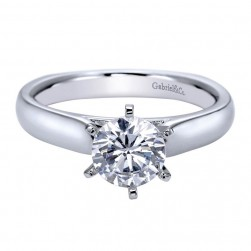Gabriel 14 Karat Contemporary Engagement Ring ER8180W4JJJ