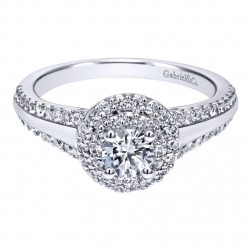 Gabriel 14 Karat Contemporary Engagement Ring ER911711R0W44JJ