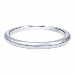 Gabriel 14 Karat Contemporary Wedding Band WB10095W4JJJ