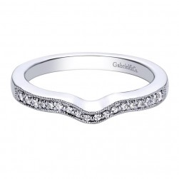 Gabriel 14 Karat Contemporary Wedding Band WB9493W44JJ
