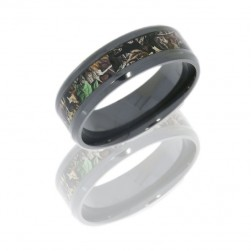 Lashbrook Z8B14/RTTIMBER POLISH Camo Wedding Ring or Band