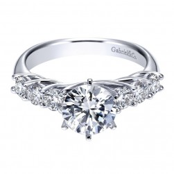 Gabriel 14 Karat Contemporary Engagement Ring ER6176W44JJ
