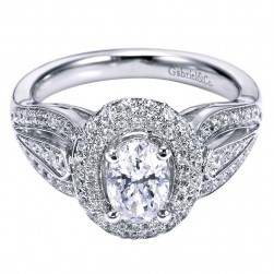 Gabriel 14 Karat Contemporary Engagement Ring ER6279W44JJ