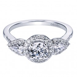 Gabriel 14 Karat Contemporary Engagement Ring ER94285W44JJ