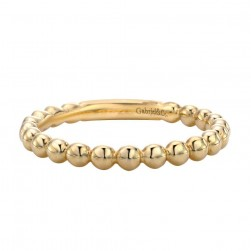 Gabriel Fashion 14 Karat Stackable Stackable Ladies' Ring LR4871Y4JJJ