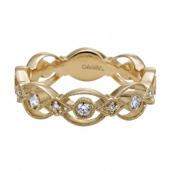 Gabriel Fashion 14 Karat Stackable Stackable Ladies' Ring LR5397Y44JJ