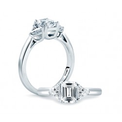 A.JAFFE Platinum Classic Engagement Ring ME1700