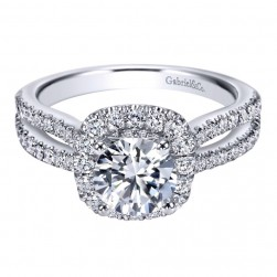 Gabriel 14 Karat Contemporary Engagement Ring ER7487W44JJ