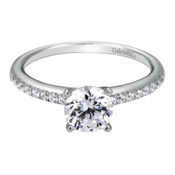 Gabriel 14 Karat Contemporary Engagement Ring ER7973W44JJ