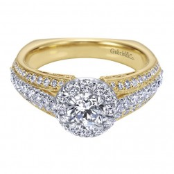 Gabriel 14 Karat Contemporary Engagement Ring ER96101M44JJ