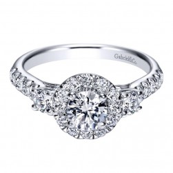 Gabriel 14 Karat Contemporary Engagement Ring ER98580W44JJ