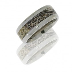 Lashbrook 8B15/MOC-BP POLISH Titanium Wedding Ring or Band