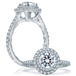 A.JAFFE Platinum Classic Engagement Ring ME1866Q