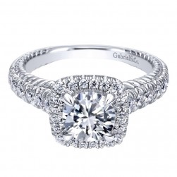 Gabriel 14 Karat Contemporary Engagement Ring ER10108W44JJ