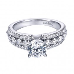 Gabriel 14 Karat Contemporary Engagement Ring ER6702W44JJ