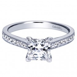 Gabriel 14 Karat Contemporary Engagement Ring ER8916W44JJ