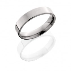 Lashbrook 5F POLISH Titanium Wedding Ring or Band