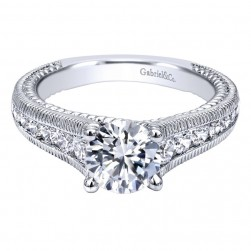 Gabriel 14 Karat Contemporary Engagement Ring ER10279W44JJ