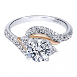 Gabriel 14 Karat Contemporary Engagement Ring ER10304T44JJ