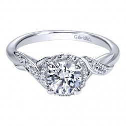 Gabriel 14 Karat Contemporary Engagement Ring ER11828R3W44JJ