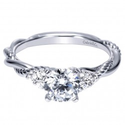 Gabriel 14 Karat Contemporary Engagement Ring ER8817W44JJ