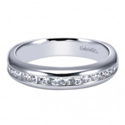 Gabriel 14 Karat Contemporary Wedding Band WB4185W44JJ