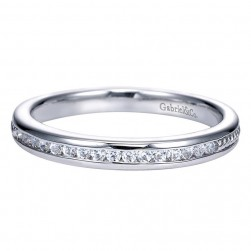 Gabriel 14 Karat Contemporary Wedding Band WB8008W44JJ
