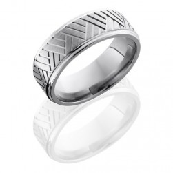 Lashbrook 8FGEBASK Satin-Polish Titanium Wedding Ring or Band