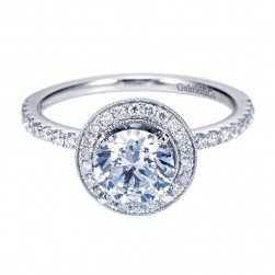 Gabriel 14 Karat Contemporary Engagement Ring ER6958W44JJ