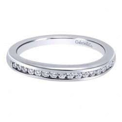 Gabriel 14 Karat Contemporary Wedding Band WB10949W44JJ