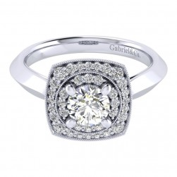 Gabriel 14 Karat Perfect Match Engagement Ring ER001B3AFW44JJ