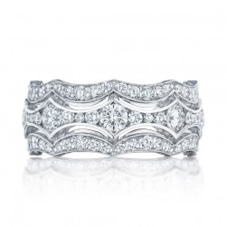 HT2621B Platinum Tacori RoyalT Diamond Wedding Ring