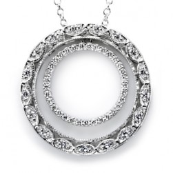 Tacori Diamond Necklace Platinum Fine Jewelry FP580