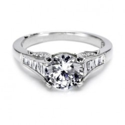 Tacori Platinum Simply Tacori Solitaire Engagement Ring 2577RD75