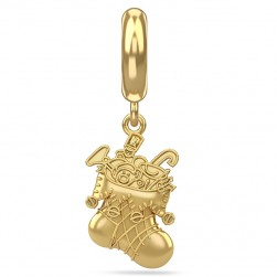 Endless Jewelry Santa's Stocking Gold Plated Charm 53442