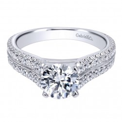 Gabriel 14 Karat Contemporary Engagement Ring ER10283W44JJ