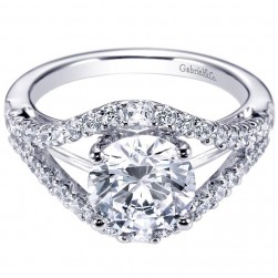 Gabriel 14 Karat Contemporary Engagement Ring ER6271W44JJ