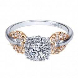 Gabriel 14 Karat Contemporary Engagement Ring ER911501R0T44JJ