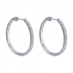 Gabriel Fashion 14 Karat Hoops Classic Earrings EG11022W44JJ