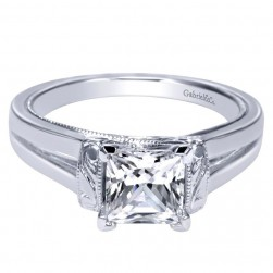 Gabriel Platinum Contemporary Engagement Ring ER9208PTJJJ