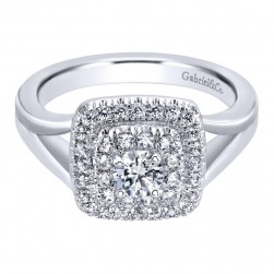 Gabriel 14 Karat Contemporary Engagement Ring ER910089W44JJ