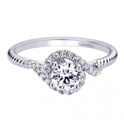 Gabriel 14 Karat Contemporary Engagement Ring ER98142W44JJ