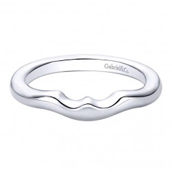Gabriel 14 Karat Contemporary Wedding Band WB9435W4JJJ