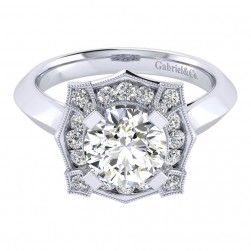 Gabriel 14 Karat Perfect Match Engagement Ring ER001C8ADW44JJ